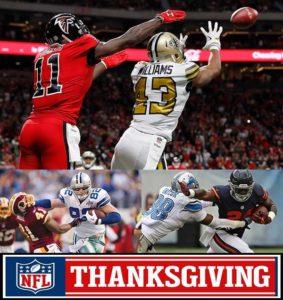 falcons vs saints thanksgiving nfl